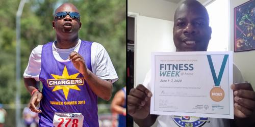 Athlete Maurice Participates in Virtual Programs